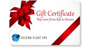 Ascend Float Spa Gift Certificates